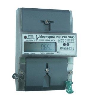 Счетчик Меркурий - 206 RN 230B 5-60А RS-485 2 тарифный