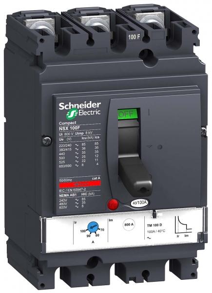Выключатель автоматический  3П   40А  Schneider Electric  3П3Т TM40D NSX100N LV429844